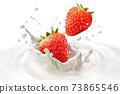 草莓飛濺圖像 73865546