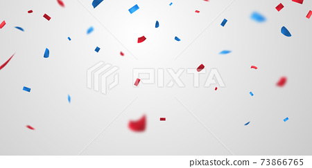 American background. Sale Vector illustration. confetti concept design template holiday Happy Day, background 73866765