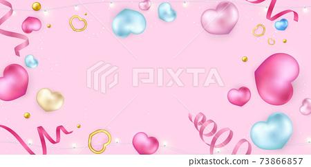 Happy valentines Day, background Celebration Vector illustration. 73866857