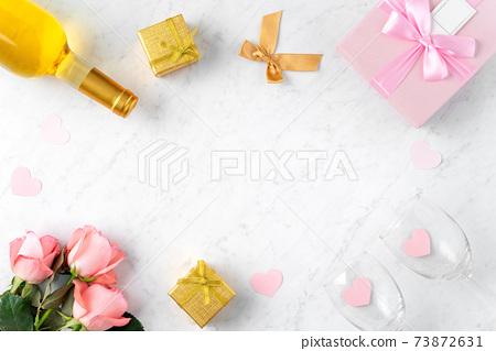 情人節 禮物 禮物盒 玫瑰 粉色 Valentine's Day rose gift バレンタイン 73872631