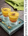 Homemade chia seed pudding with mango 73874619