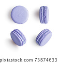 Set of lilac french macarons 73874633