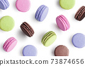 Colorful cake macaron 73874656