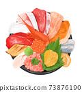 手繪海鮮碗 73876190