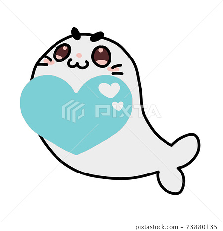 Heart and seal 73880135