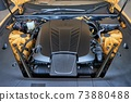 Car Engine Bay, powerful V8 sport coupe 73880488