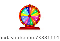3d rendering, Realistic colorful mock up Casino or fortune wheel , isolated white background.  73881114