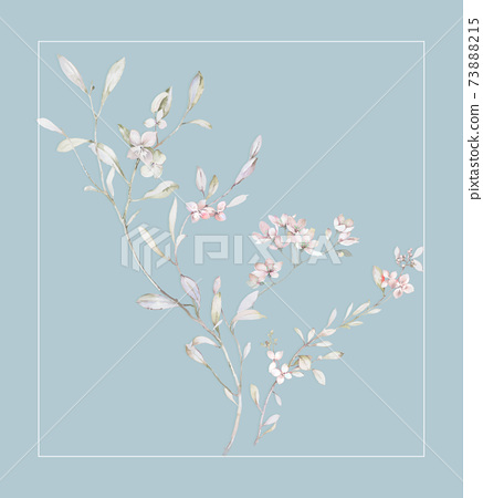 色彩豐富的花卉素材組合和設計元素 73888215