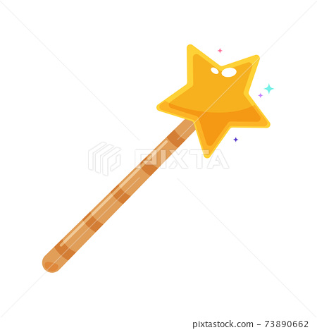 The Magic Wand. Isolated Vector Illustration 73890662