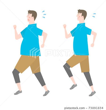 奔跑的男人 73891834