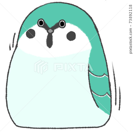 Surprisingly cute sparrow (turquoise) 73892118