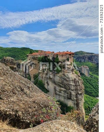 Meteora Monastery County towering on a rock 73892825