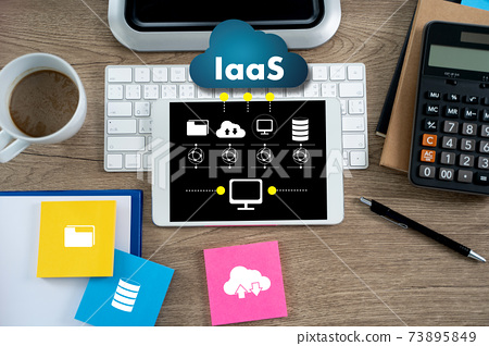 IaaS  Infrastructure as a Service on screen Optimization of business process Internet and networking IaaS 73895849