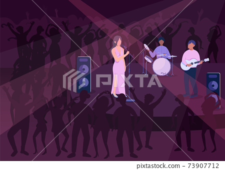 Night club party flat color vector illustration 73907712