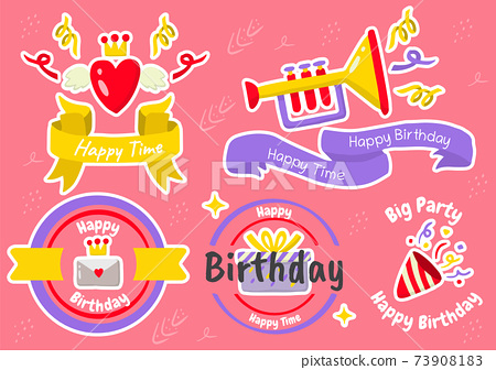 Party label Vector Logo for banner 73908183