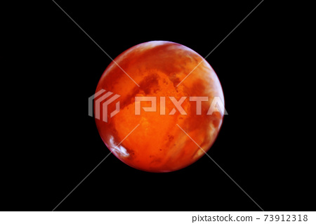 Planet Mars, on a dark background. Elements of this image were furnished by NASA. 73912318