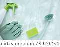 Dishwashing brush, gloves, sponge and spray bottle 73920254