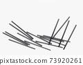 Plastic straws on white background, environment concept 73920261