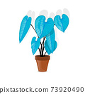 Abstract  lovely simple illustration of the classic anthurium 73920490