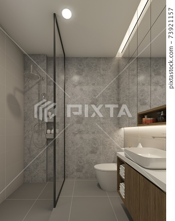 bathroom interior design. 3d rendering 73921157