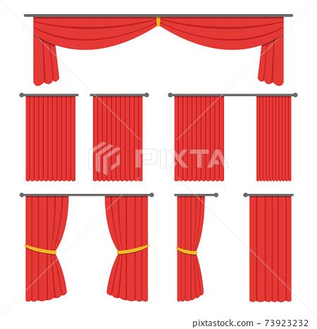 Theater curtain vector design illustration 73923232