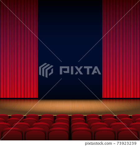 Theater stage background vector design illustration 73923239