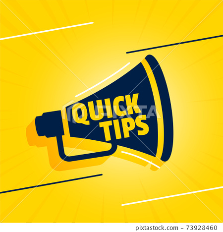 quick tips backgorund with megaphone design 73928460
