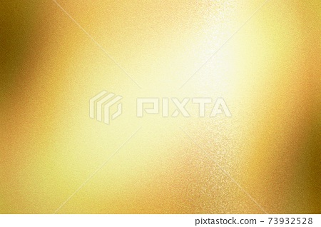 Light shining on gold foil glitter metallic wall with copy space, abstract texture background 73932528