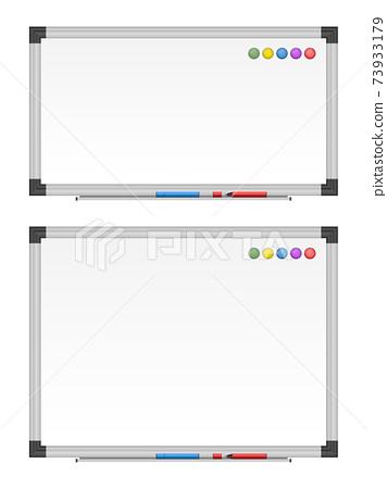 Empty white board set vector illustration 73933179
