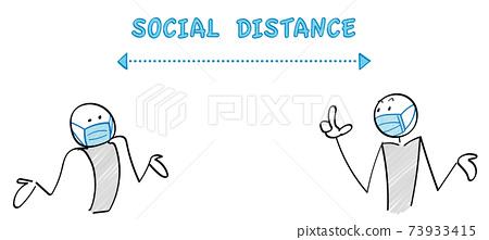 감염증 대책과 소셜 디스턴스 인물과 커뮤니케이션 73933415