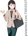 戴著面具,前往營業地點的女人 73933527