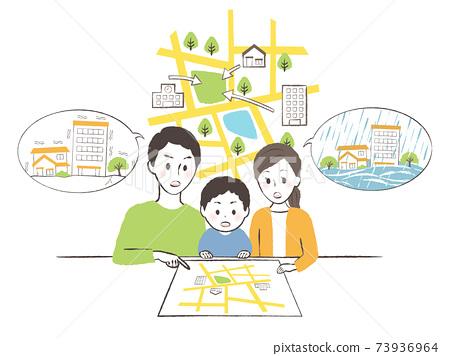만약 재해가 발생했다면 어디로 피난하거나 가족 회의 73936964