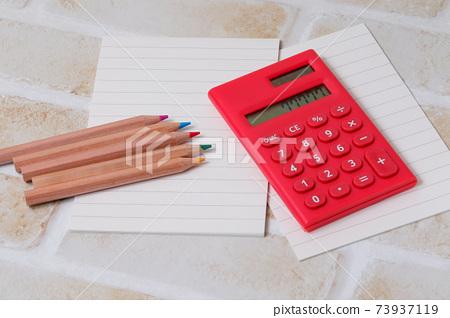 計算器,彩色鉛筆,鉛筆,文具,文具,計算,繪畫,學校,辦公用品 73937119