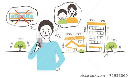安全確認和地震發生時難民返回家園 73938069