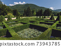 Hedge Maze in Garden of Chateau de Vizille 73943785