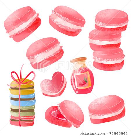 春季草莓瑪卡龍套裝 73946942