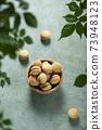 Traditional italian cookies baci di dama 73948123