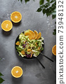 Concept of vegan food with green salad 73948132