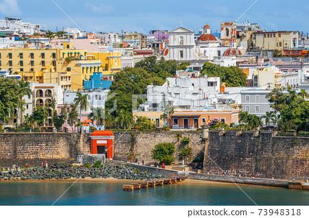 Old San Juan, Puerto Rico on the Water 73948318