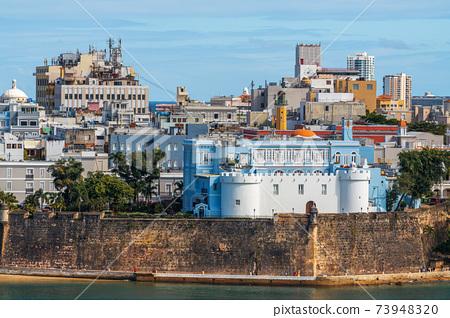 Old San Juan, Puerto Rico on the Water 73948320