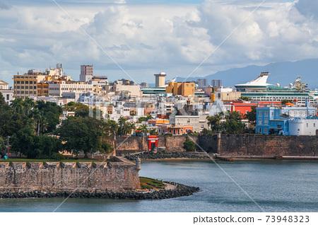 Old San Juan, Puerto Rico on the Water 73948323
