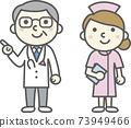 醫生和女護士(無口罩) 73949466