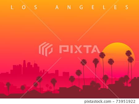 Los Angeles skyline, CA, USA 73951922