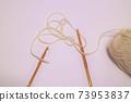 粉色領紗和鉤針正版照片 73953837