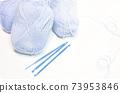 藍色毛線球正版照片 73953846