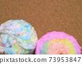 軟木板和毛線球正版照片 73953847