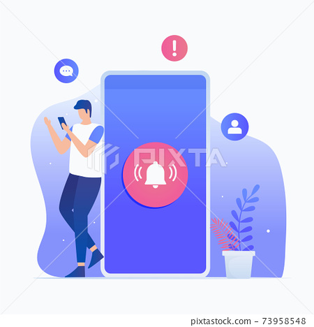 New notification illustration concept 73958548