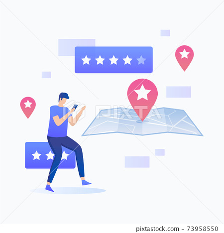 Location rating illustration concept 73958550