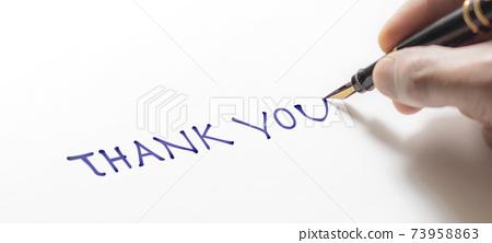 手寫感謝的訊息 73958863