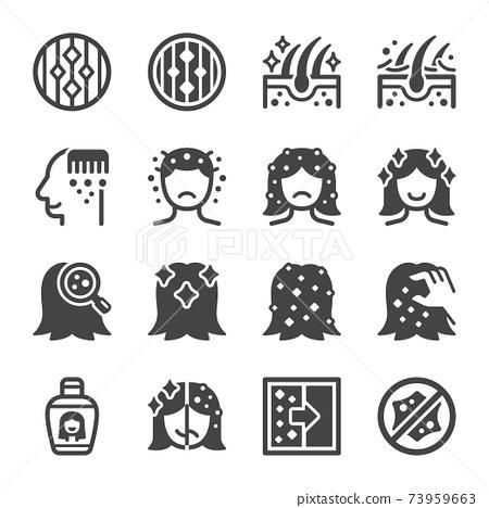 dandruff icon set 73959663